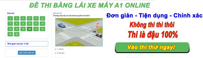 đề thi bằng lái xe a1 online